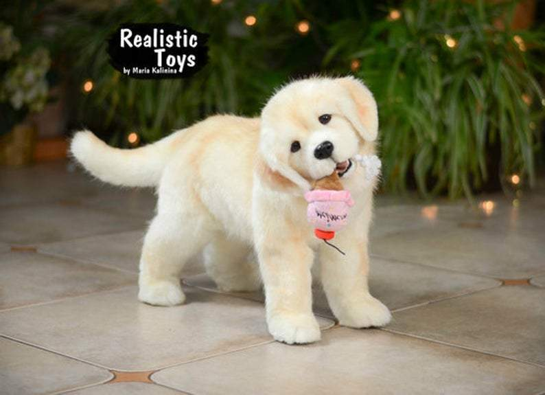Labrador Retriever Puppy Realistic stuffed animal, custom replicas, life size plush replica