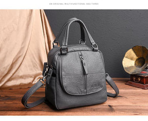 Fashion Multipurpose Backpack Shoulder Handbag