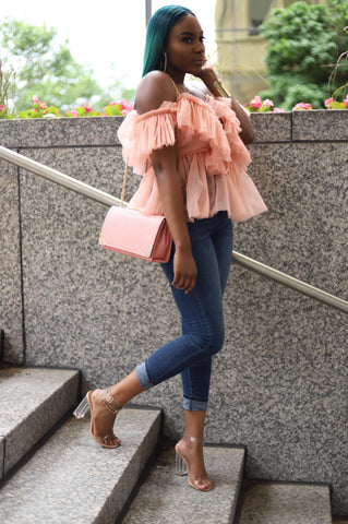 Blush Ruffle Effect | Blouse