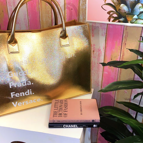 Bougie Tote | Gold Over-sized Tote Bag