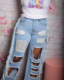 Cut It Out Jeans| High Waisted Jeans