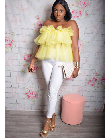 My Sunshine | Tulle Ruffle Top