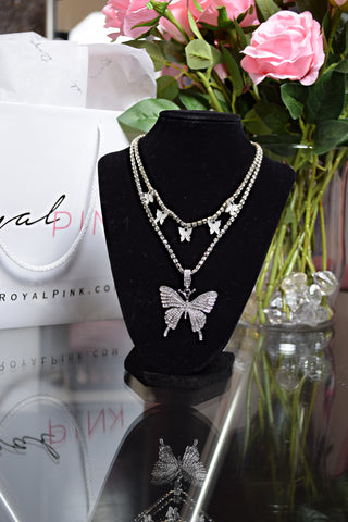 Darling Fly | Butterfly 2 Layer Necklace