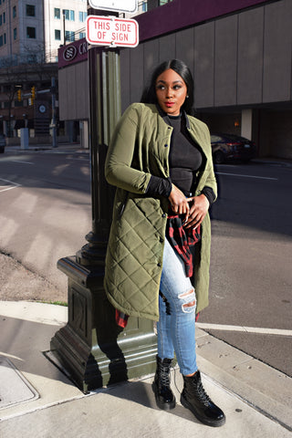 Stay Ready Puff Jacket | Olive Puffy Jacket