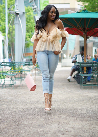 Nude Ruffle Effect | Blouse