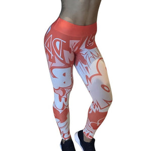 Yoga Pants High Waist Print Sports Legging