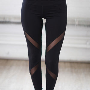 Black Mesh Yoga Pants