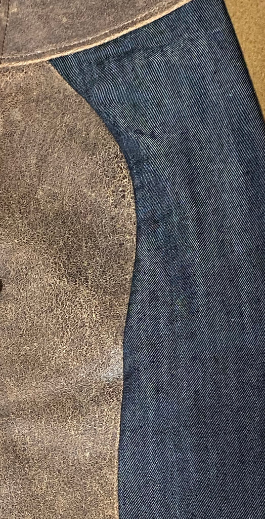 Jeans with Stretch Leather