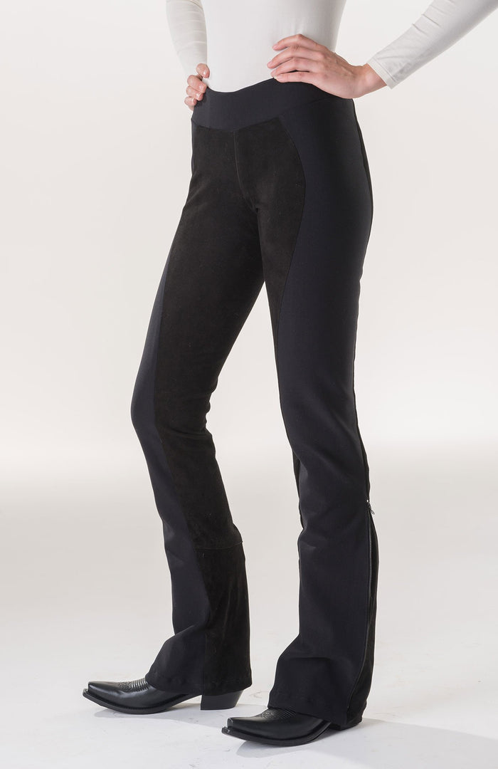 2 in 1 Performance Pant, Leather & Knit