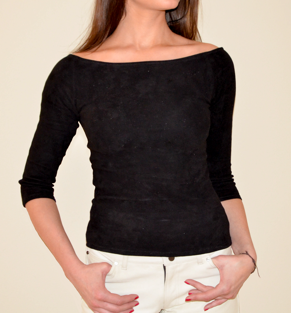 Off Shoulder Tee Long Sleeve