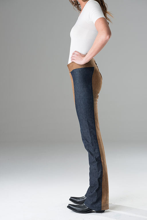 Jeans with Traditional Leathers