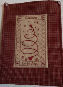 CALICO DESIGNS Seasons Greetings Wallhanging pattern