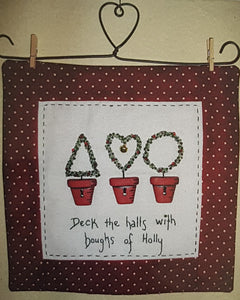 CALICO DESIGNS Deck the Halls PDF pattern
