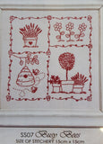 Redwork stitcheries