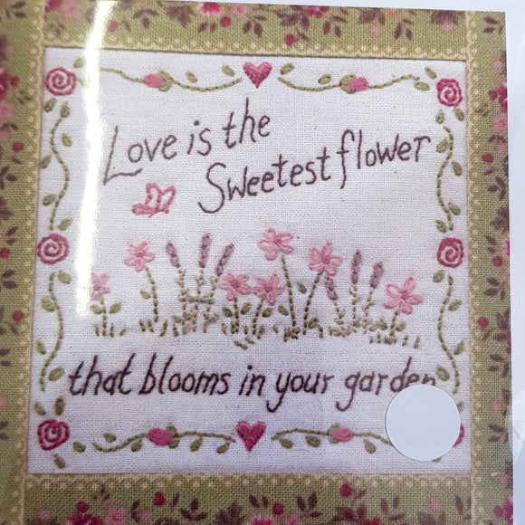 Floral Card- love is the sweetest flower...