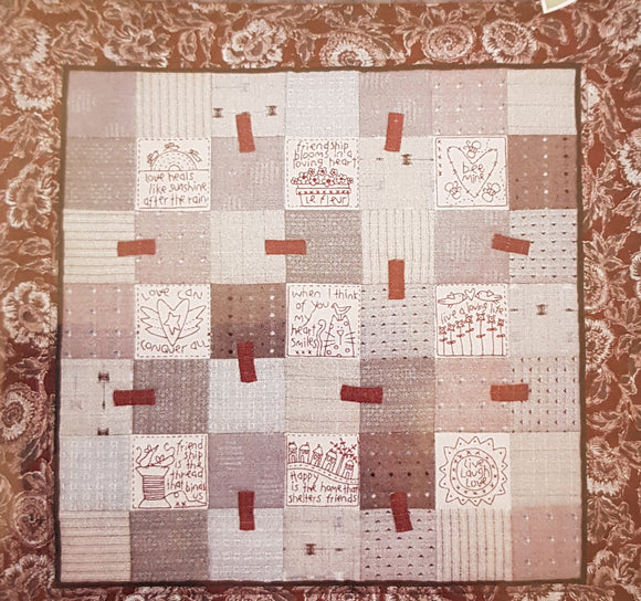 Redwork Friendship Quilt
