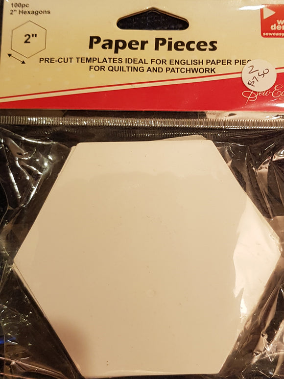 2 inch paper hexies.