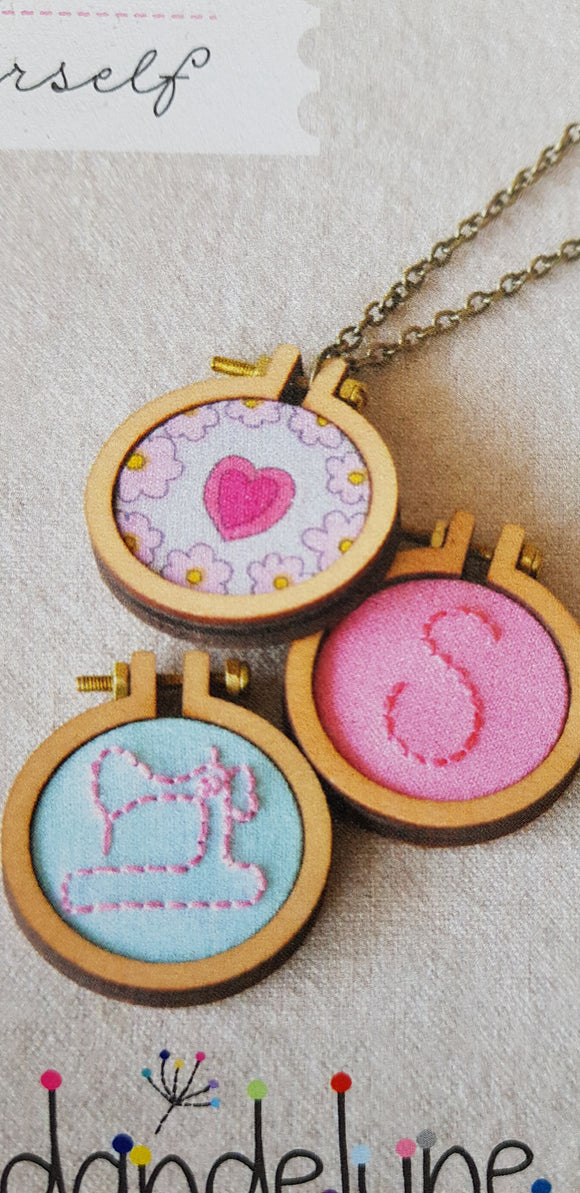 Mini hoop necklace kit.