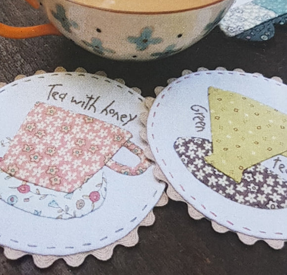 Tea time table runner and mug rugs