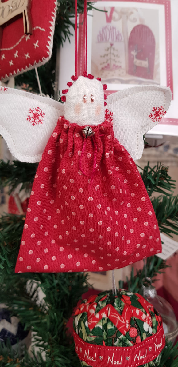 Quick Christmas angel kit in red.