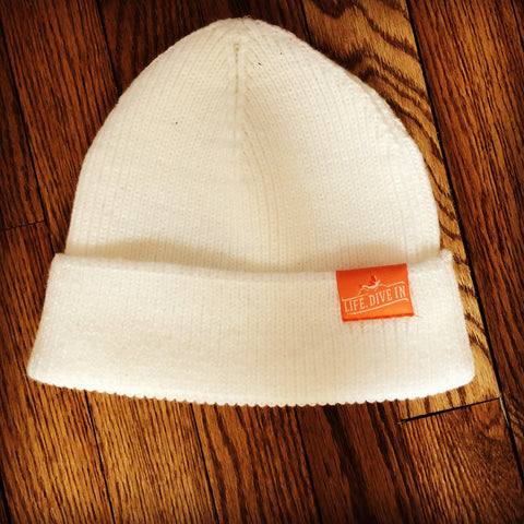 White winter Beanie Hat