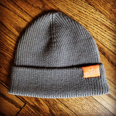 Grey Winter Beanie Hat