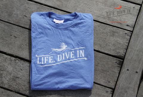 Life Dive in T-Shirt - Blue (2XL)
