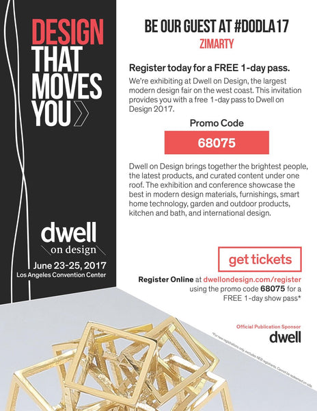 BE OUR GUEST ON DWELL AT DESIGN 2017