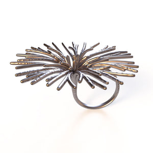 Flower Ring - zimarty - wearable architecture 3d printed jewelry