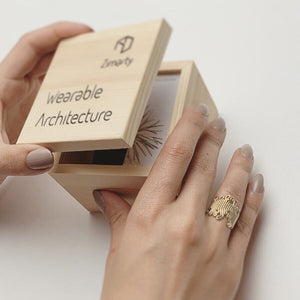 Squiggle Ring - zimarty - wearable architecture 3d printed jewelry