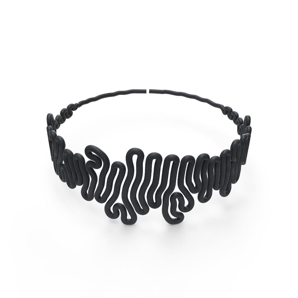Squiggle Chocker - zimarty - wearable architecture 3d printed jewellery