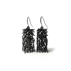 Acropora Earring - zimarty - wearable architecture 3d printed jewelry
