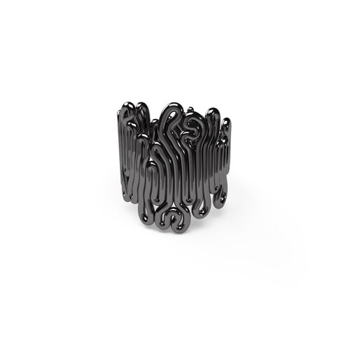 Squiggle Ring - zimarty - wearable architecture 3d printed jewellery