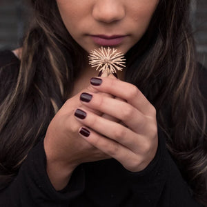 Flower Ring - zimarty - wearable architecture 3d printed jewellery