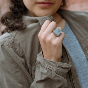 Mondrian Cube Ring - zimarty - wearable architecture 3d printed jewellery
