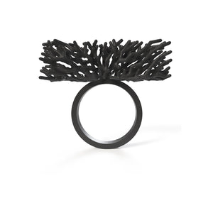 Acropora Ring - zimarty - wearable architecture 3d printed jewelry