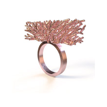 Load image into Gallery viewer, Acropora Ring - zimarty - wearable architecture 3d printed jewelry