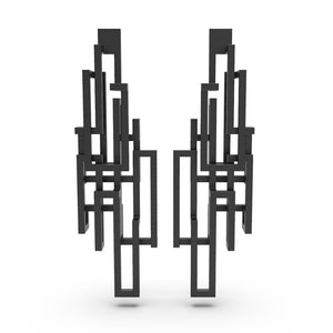 Loop Earring - zimarty - wearable architecture 3d printed jewelry