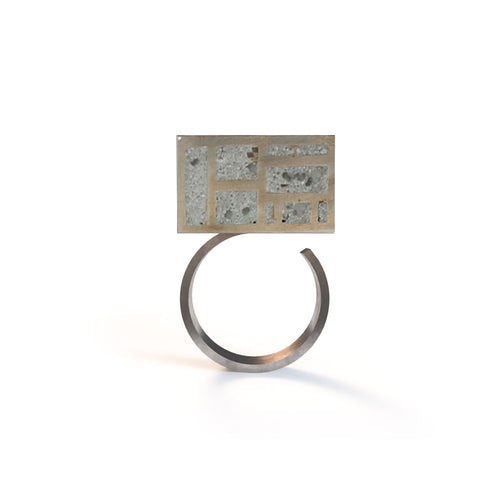 Mondrian Cube Ring - zimarty - wearable architecture 3d printed jewelry