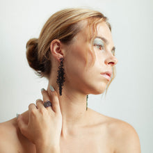 Load image into Gallery viewer, Squiggle Earring - zimarty - wearable architecture 3d printed jewelry