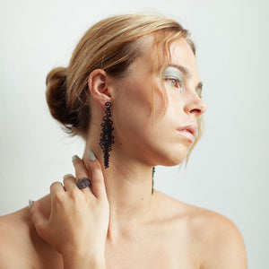 Squiggle Earring - zimarty - wearable architecture 3d printed jewellery