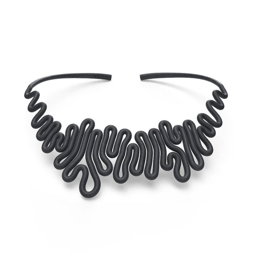 Squiggle Necklace - zimarty - wearable architecture 3d printed jewellery
