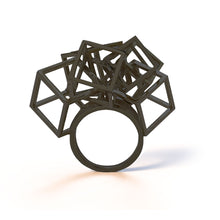 Load image into Gallery viewer, Z Cube Ring - zimarty - wearable architecture 3d printed jewelry