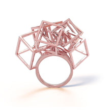 Load image into Gallery viewer, Z Cube Ring - zimarty - wearable architecture 3d printed jewellery