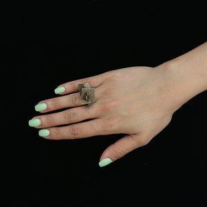 Z Plane Ring - zimarty - wearable architecture 3d printed jewellery