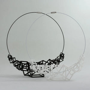 Z Cube Necklace - zimarty - wearable architecture 3d printed jewellery