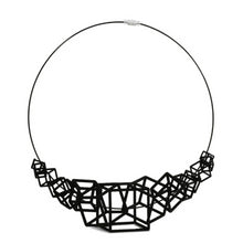 Load image into Gallery viewer, Z Cube Necklace - zimarty - wearable architecture 3d printed jewelry