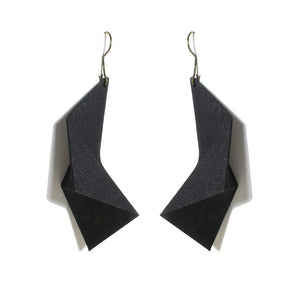 Mosalas Earring - zimarty - wearable architecture 3d printed jewellery