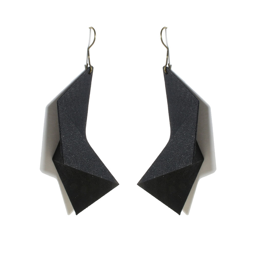 Mosalas Earring - zimarty - wearable architecture 3d printed jewelry