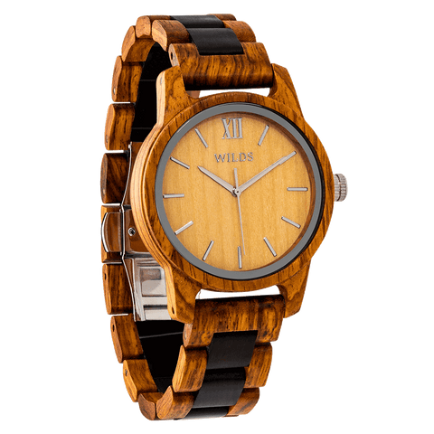 Men's Handmade Engraved Ambila Wooden Watch - Queen Bunnybee's Gifts